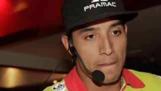 Hernández durante el encuentro con Autobild Motos