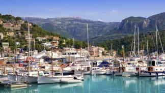 Puerto de Soller en Mallorca