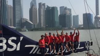 La tripulación del Maserati en Shanghái