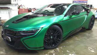 bmw-i8-vinilado-verde-mate-delantera