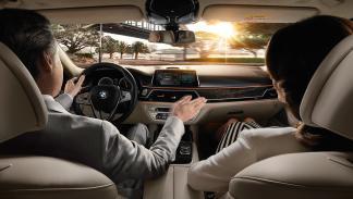 Función antideslumbramiento en el BMW Serie 7