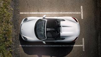 Porsche Boxster Spyder 2015 cenital
