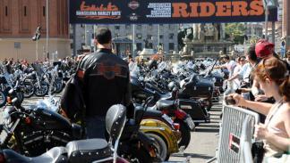 Barcelona Harley Days 2015, aparcamiento VIP