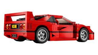 Tres cuartos trasera Ferrari F40 de Lego
