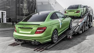 Mercedes C63 AMG Coupe Legacy Edition tres cuartos traseros