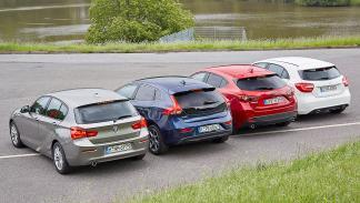 Comparativa: BMW Serie 1 de tres cilindros vs. rivales zagas