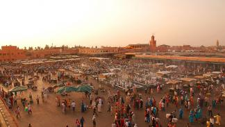 Plaza Jemaa el-Fnaa, en Marrakech.
