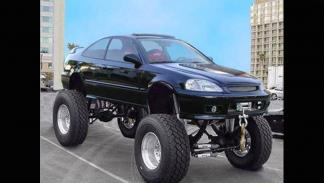 Monster truck ruedas gigantes civic