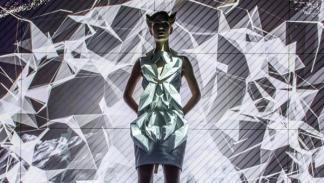 Vestido inspirado en los cuadros de mando virtuales del A4 sedán