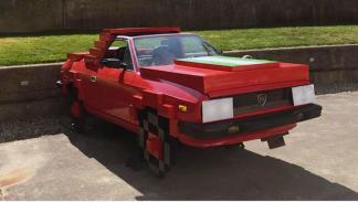 Lancia Beta Spider pixelado delantera