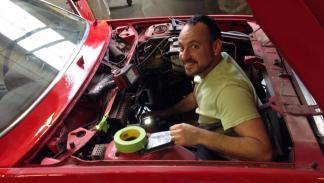 Lancia Beta Spider pixelado motor