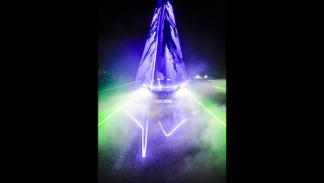 Luces sensibles al sonido en el vídeo de Lexus con will.i.am