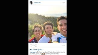 Carlos Sainz bicicleta amigos Instagram