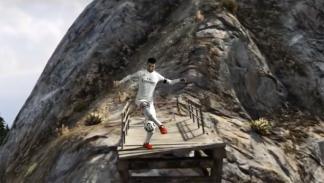 Cristiano Ronaldo jugando en GTA V
