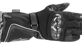 Guantes de moto para invierno, con fibras como el Gore Tex.