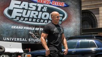 Vin Diesel en la presentación de la atracción de 'A todo gas'