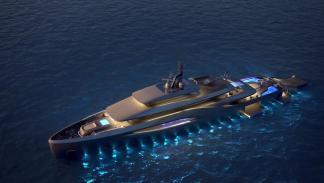 buque italiano pininfarina luces nocturnas