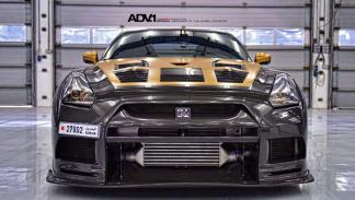 Nissan GT-R ADV-1 dorado frontal AMS