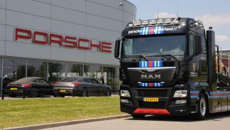 Camion MAN Porsche gelderland