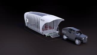 casa y coche impresos en 3D inteconectados 3