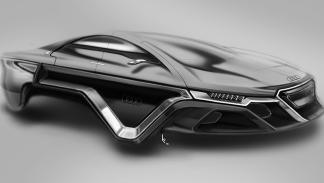 Audi plateado