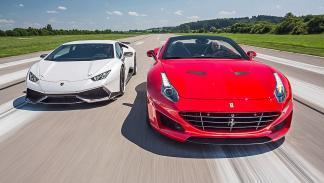 Novitec Ferrari California vs Novitec Lamborghini Huracán morros
