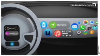 salpicadero coche autónomo de PSA
