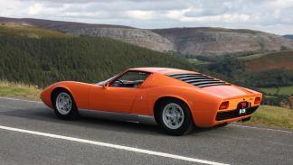 Lamborghini Miura Italian Job trasera