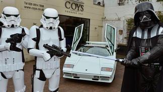 Lamborghini Countach Darth Vader frontal