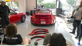 Porsche 993 de Rauh Welt Begriff parking