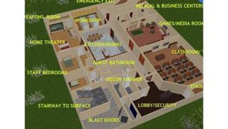Búnker de hormigón transformado en mansión subterránea 2