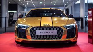 Audi R8 V10 2015 oro vinilo