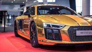 Audi R8 V10 2015 dorado