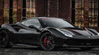 Black on Black Ferrari 488 GTB
