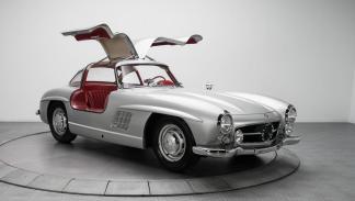 Mercedes 300 SL plata puertas