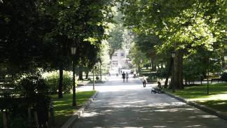 Campo de San Francisco en Oviedo