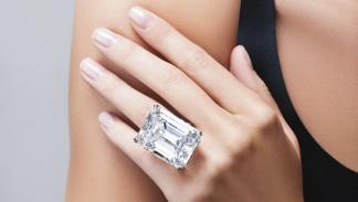 Diamante de corte de esmeralda