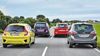 Citroen-C3-Picasso-Ford-B-Max-Honda-Jazz-Opel-Meriva-traseras