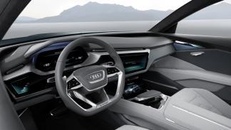 Puesto de conducción del Audi e-tron Quattro Concept