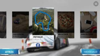 opciones de juego en la app de Volkswagen