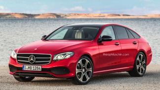 Mercedes Clase E GT trasera frontal