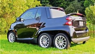 Smart Fortwo pick-up 6x6 tres cuartos traseros