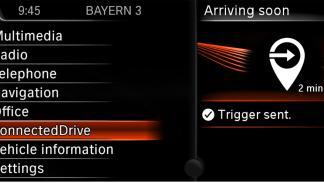 trigger sent bmw connecteddrive