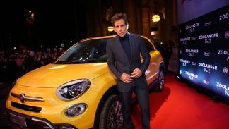 Ben Stiller con Fiat 500X en la presentación de Zoolander 2