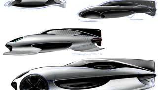 Boceto del futuro Jaguar