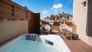 terraza jacuzzi hotel casa 1800