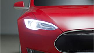 tesla model s niños luces