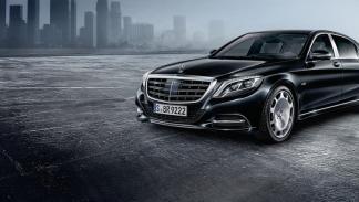 Mercedes-Maybach S600 Guard: tres cuartos delanteros