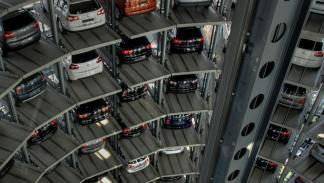 aparcamiento robot de Volskwagen torre