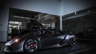 Lamborghini Sesto Elemento Hong Kong tres cuartos delanteros